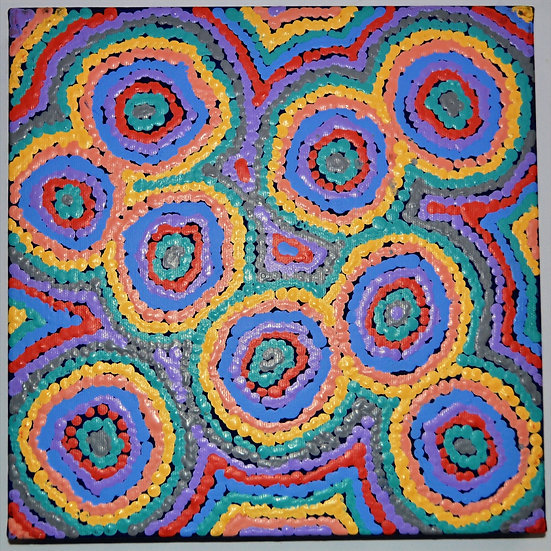 Mina Mina Jukurrpa (30x30cm pre-stretched on canvas) by Sarah Napaljarri Sims