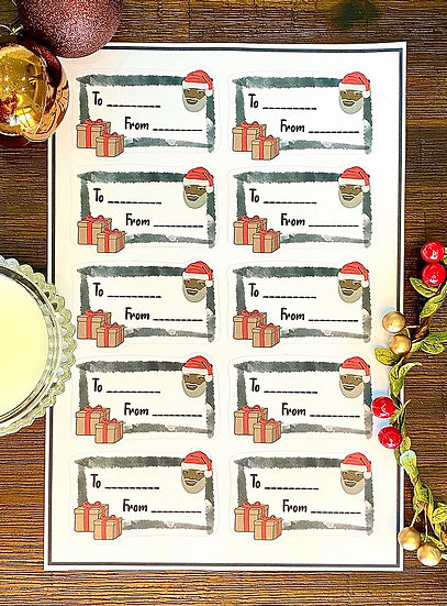 Sticker Gift Labels - White (10 Stickers) by #Dream Tag