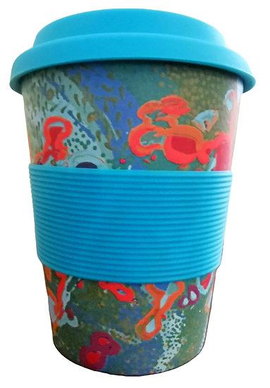"Bamboo Eco Mug - ""Janganpa Jukurrpa"" (Brush-tail Possum Dreaming)"