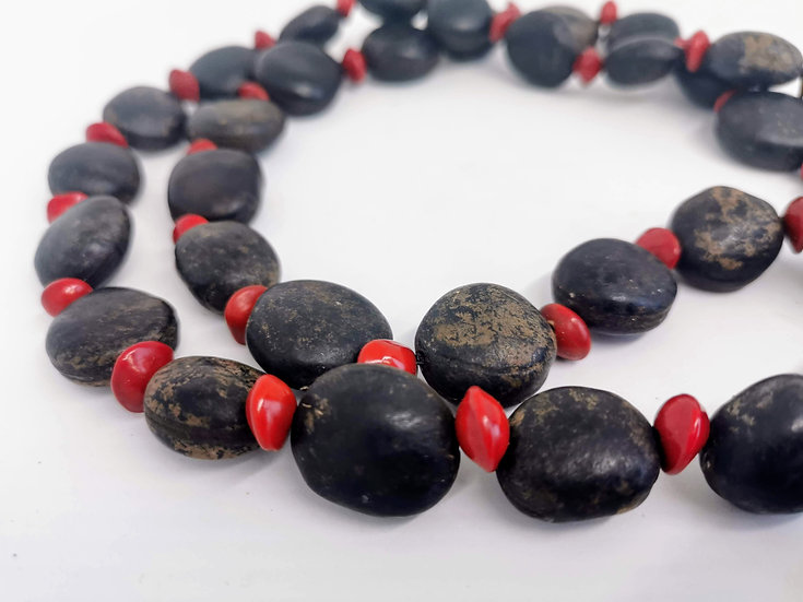 Shell and Seed Necklace by Betty Mirnyowan Nganyirrarki Alamarra