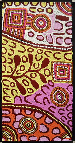 Karnta Jukurrpa (61x30cm unstretched on canvas) by Carol Larry
