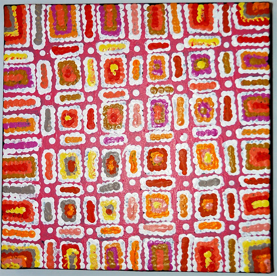 Ngapa Jukurrpa (30x30cm pre-stretched on canvas) by Lynette Singleton