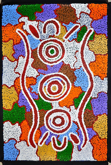 Wardapi Jukurrpa (46x30cm unstretched on canvas) by Maryanne Spencer