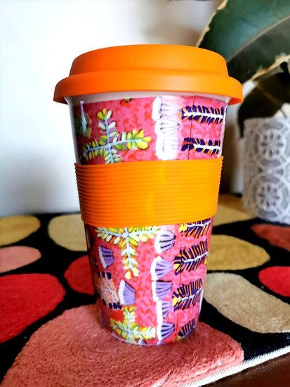 """Eco Travel Mug - """"Medicine Plants"""""""