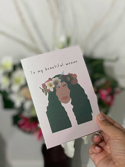 """Beautiful Woman"" Card"