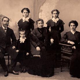 Retrato de la familia de la sepia
