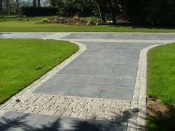 Black Limestone Paving&Silver granite Cobbles