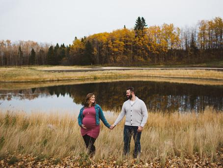 Pam + Mike | Edmonton fall lifestyle maternity photographer