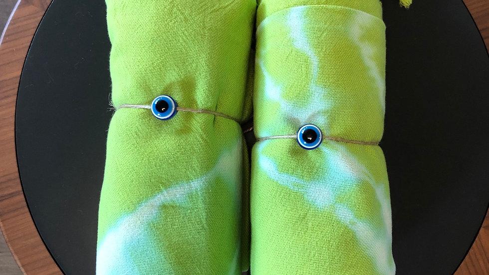 Cotton Tie Dye Turkish Towel (Green)