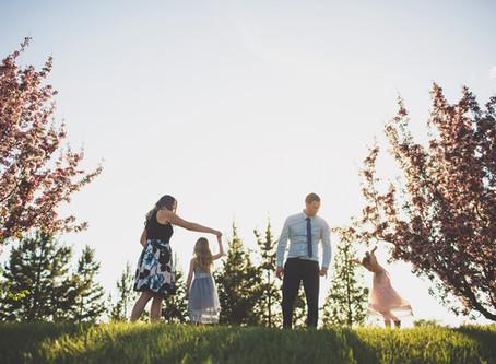 Berlyn & Ayla   Cherry Blossom Family photos in Edmonton