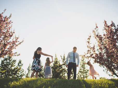 Berlyn & Ayla | Cherry Blossom Family photos in Edmonton