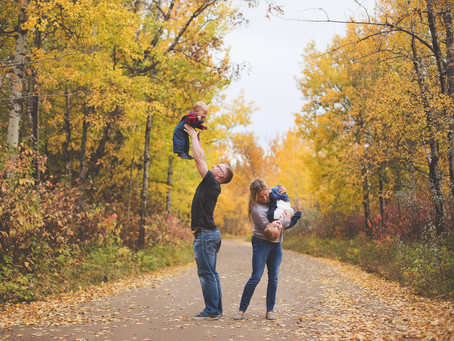 Wesley & Benjamin | Fall Family photography Edmonton