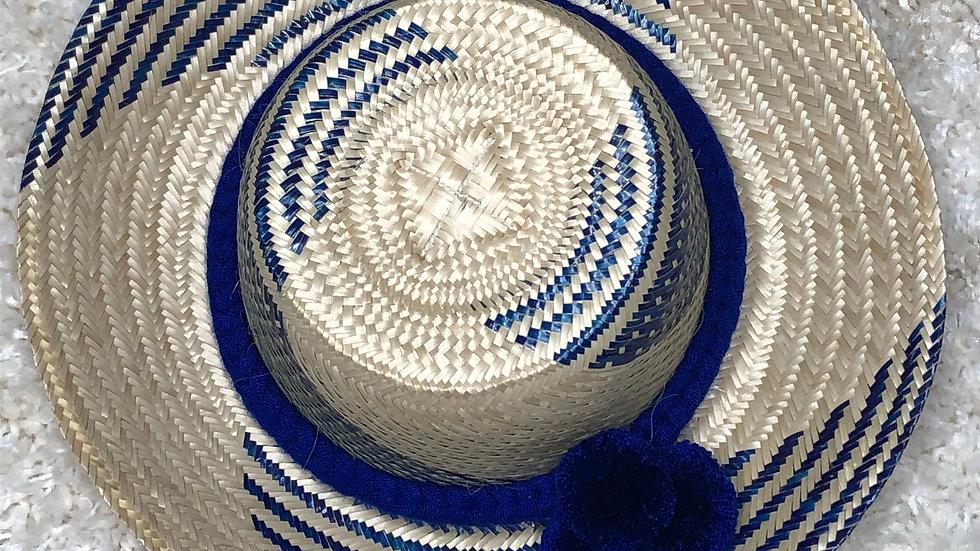 Colombian Straw Hat (Blue)