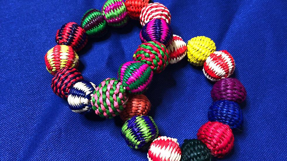 Colombia Woven Pon Pon Bracelet