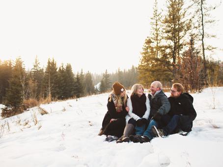 The G Family - Winter family photographer in Edmonton