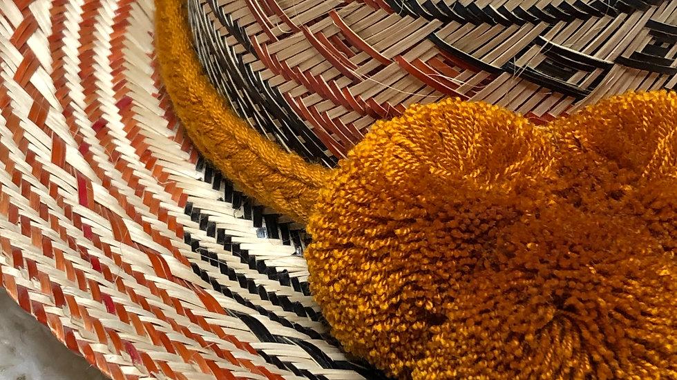 Colombian Straw Hat (Burnt Orange)