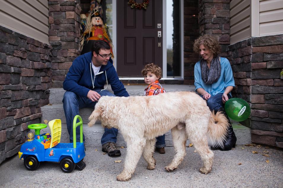 Edmonton-family-photographer-dog and boy