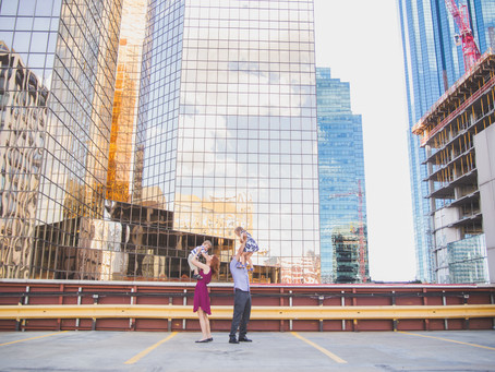 Alexandra & Eliah | Downtown Edmonton urban family photographer