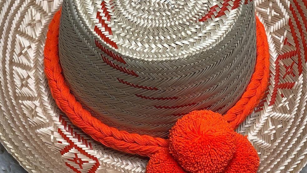 Colombian Straw Hat (Orange)