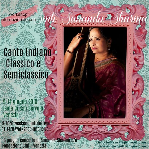 seminario di canto indiano intensivo