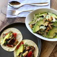 Pork Belly Taco and Cucumber Salad (Happy Hours)