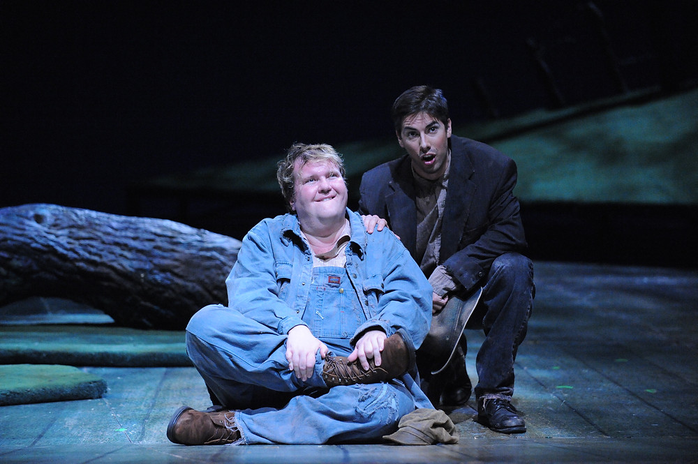 Lennie and George, Act III. Photo by Ellen Appel.