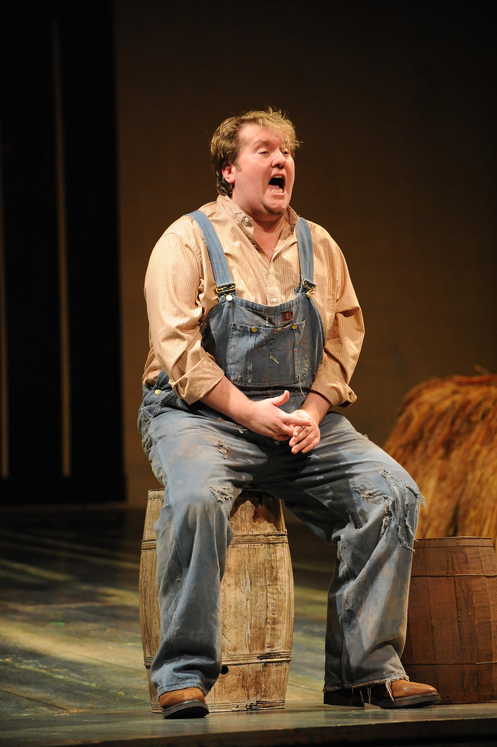 Anthony Dean Griffey as Lennie; Photo by Ellen Appel.