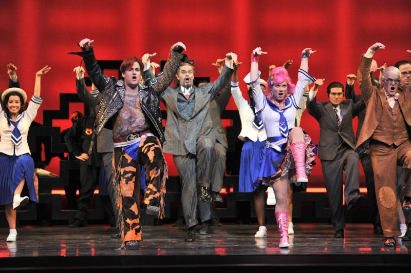The cast and chorus of Gilbert & Sullivan's 'The Mikado.' Photo by Ellen Appel.
