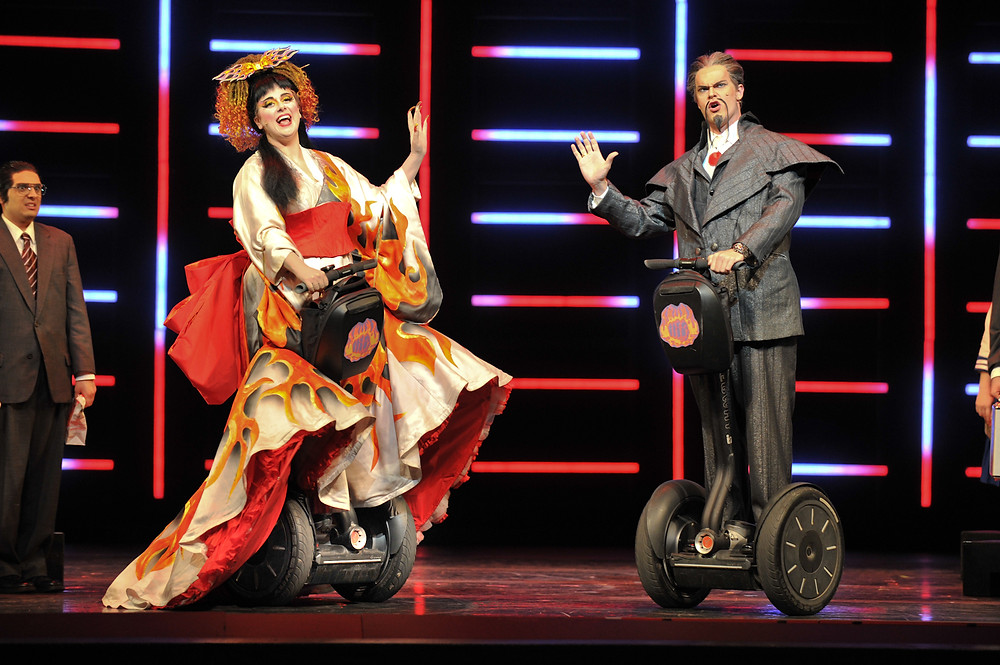 Meaghan Deiter (Katisha) and Matthew Young (The Mikado). Photo by Ellen Appel.