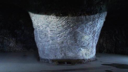 정선 「미디어 아트로 만나는 한여름 얼음 수족관」 화암동굴 황금의 기둥 맵핑 쇼