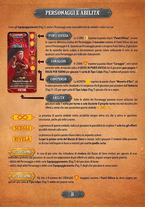 Throne | Gioco da Tavolo | I Guardiani di Kalesh - Regolamento - Personaggi e Abilità