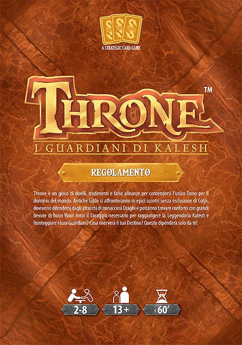 Throne | Gioco da Tavolo | I Guardiani di Kalesh - Regolamento - Copertina