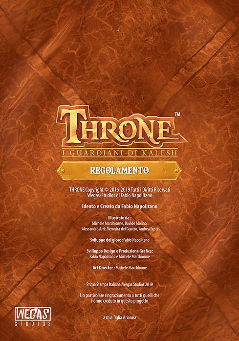 Throne | Gioco da Tavolo | I Guardiani di Kalesh - Regolamento - Retro