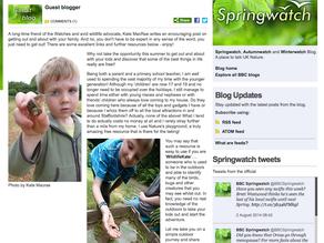 My BBC Springwatch Blog Post!