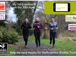 I take on a Triathlon to raise money for Staffordshire Wildlife Trust!