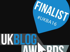 Through to the FINALS of the UK Blog Awards!