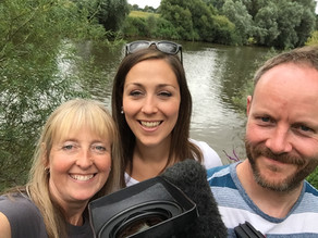 Otters on the River Severn – Filming with Midlands Today