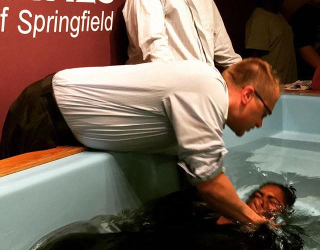 Isaiah and Latanya were baptized in Jesu