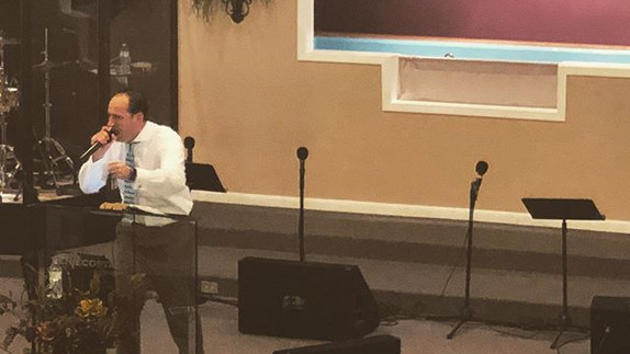 Pastor bringing the Word this morning! _