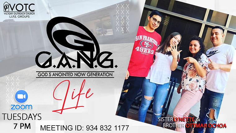 GANG Life Lifegroup Tuesday ZOOM with Me