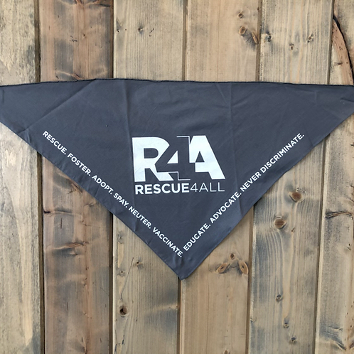 R4A Grey Pet Bandanna