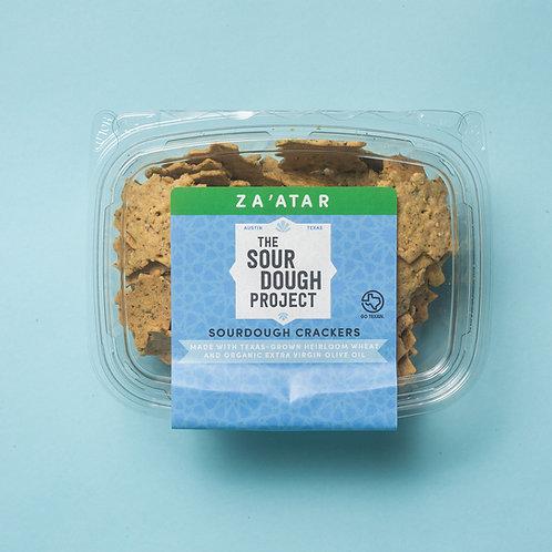 Za'atar Sourdough Crackers