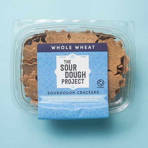 Whole Wheat Sourdough Crackers