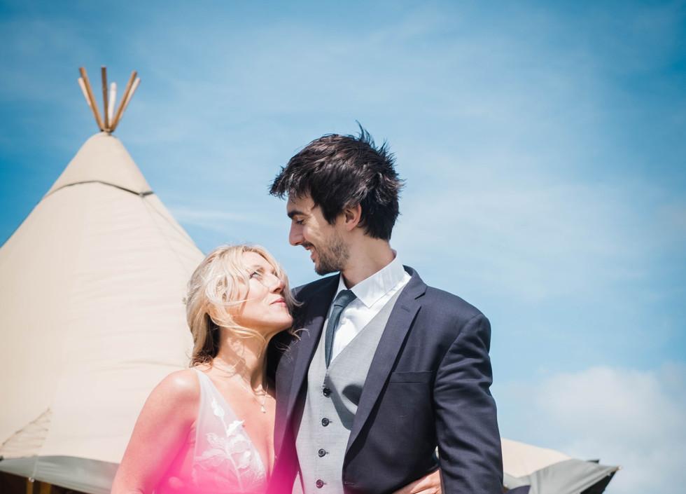 Cornish clifftop Wild Tipi Weddings