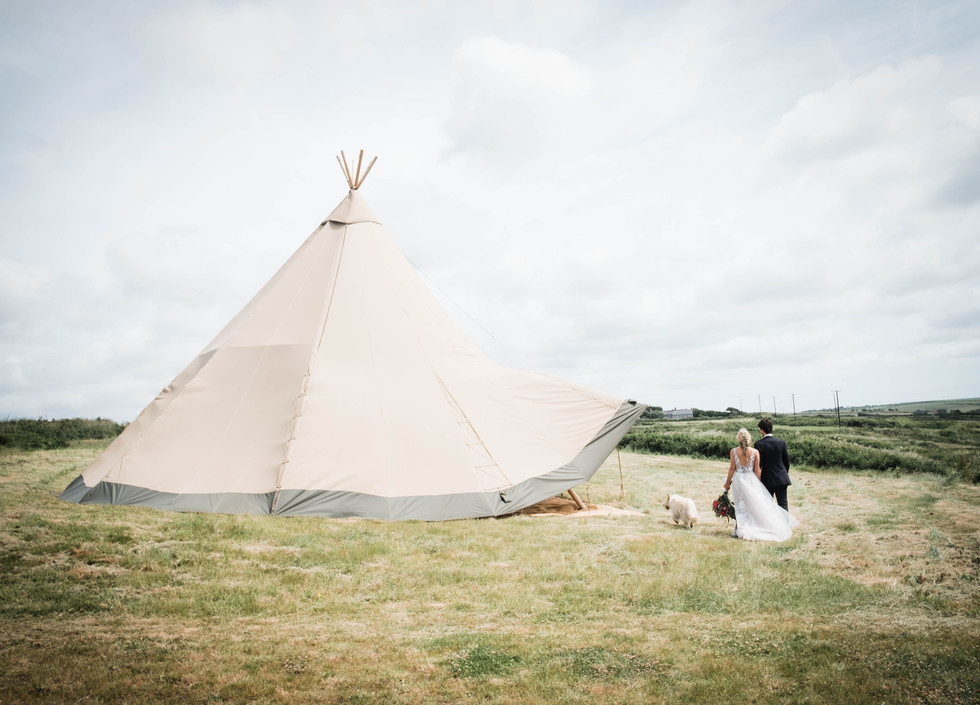 A Wild Tipi in a stunning location.
