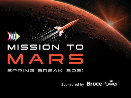 NII Explore's Spring Break Mission to Mars challenge open for registration