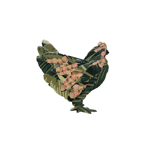 Tropical Chicken Magnet