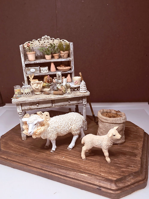 Potting Shed with Sheep