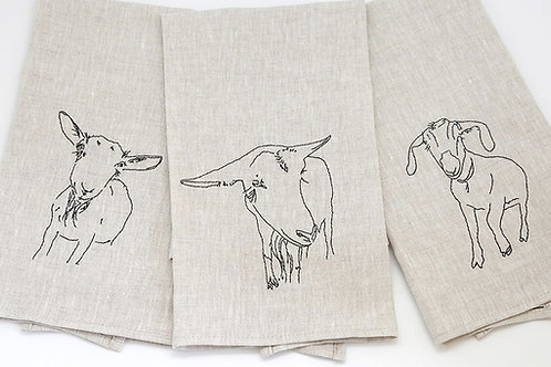 Linen Goat towels
