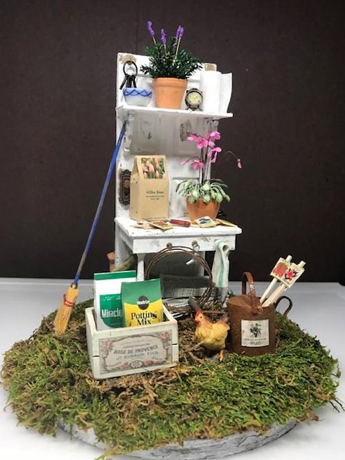 Potting Shed with Chicken